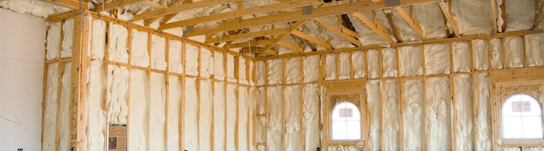 newly constructed home with liquid insulating